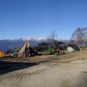 陣馬形山キャンプ場の晩秋