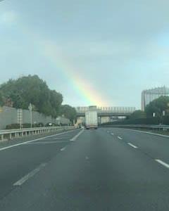 たかさんが見つけた虹・・・