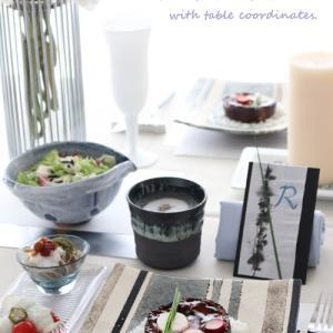 梅雨を楽しむテーブルコーディネートの料理メニューは・・・