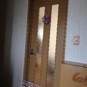 パパの力作!① 猫脱走防止扉。