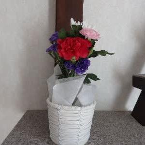 月命日のお花。