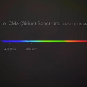 光は美しい ーα CMa(シリウス)のスペクトルー