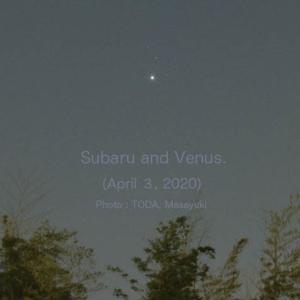 すばると金星(2020年4月3日)