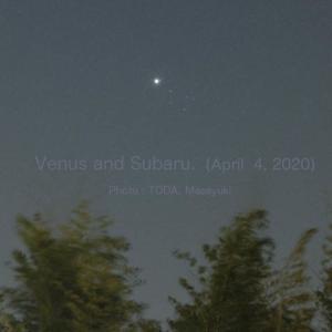 金星とすばる(2020年4月4日)