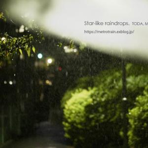 星のような雨粒