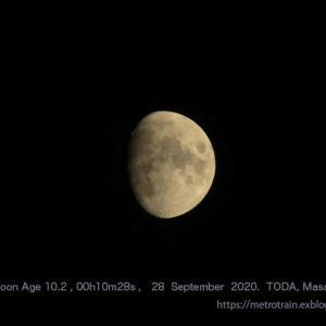2020年 9月28日00時10分 月齢10.2のお月さん(450mm相当)