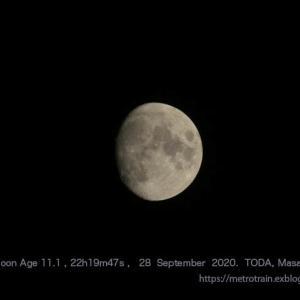 2020年 9月28日22時19分 月齢11.1のお月さん(450mm相当)