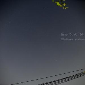 6月15日01時34分の空 - 晴れている -