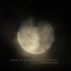 月齢15.2のお月さん