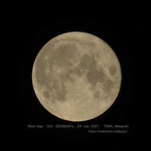 月齢14.5のお月さん