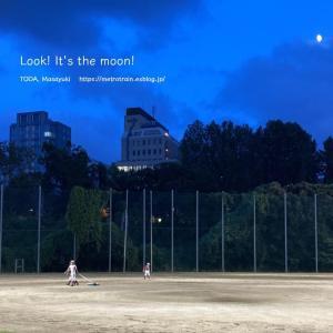 月が見えたよ!