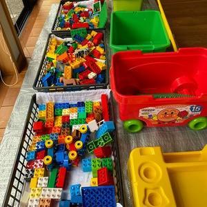 こんな工夫でR活動~リユースブロックを洗ってきれいにしまってみた
