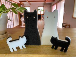 100円ショップのお気に入り~猫スポンジ