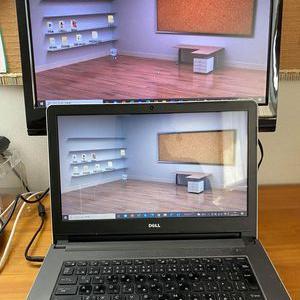 パソコン2画面使いで仕事やzoom快適