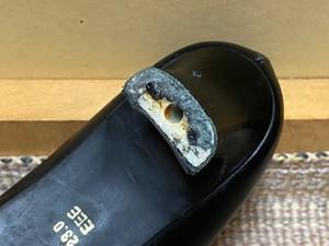 喪服専用の黒靴、長年お疲れさまでした