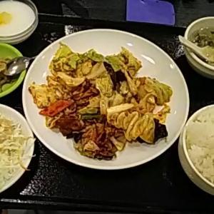 蓬菜軒にて 昼ごはん