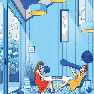 夏の風船部屋