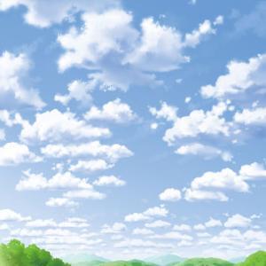 のどかな空と田園風景