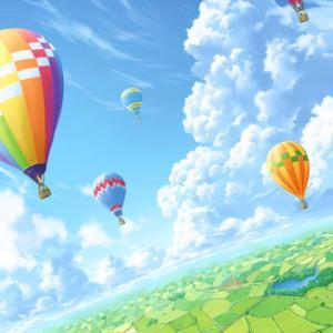 夏の雲と田園風景