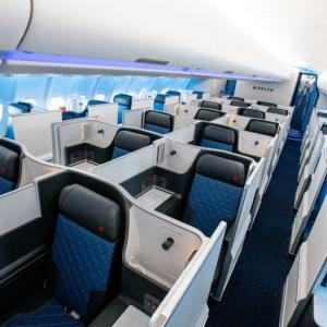 デルタ航空167便シアトル→成田 デルタワン(2月14日) 搭乗レポート