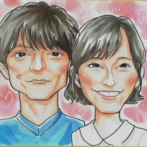 9月24日の似顔絵教室レポ「窪田正孝さん&水川あさみさん」