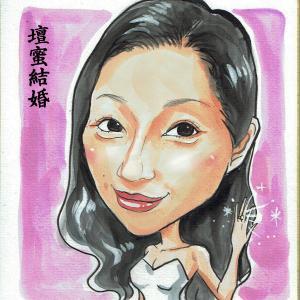 11月26日の似顔絵教室レポ「壇蜜&イモトアヤコ」