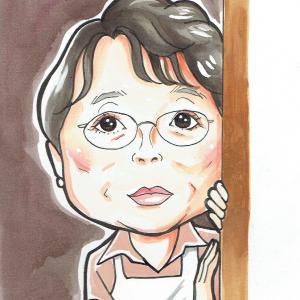 1月22日の似顔絵教室レポ「市原悦子さん」