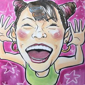 10月13日の似顔絵教室レポ「フワちゃん」