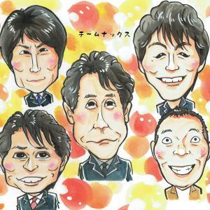 12月22日の似顔絵教室レポ「大泉洋さん&チームナックス」