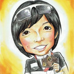 3月12日の似顔絵教室レポ「小平奈緒選手」