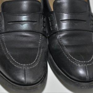 久々の靴磨き
