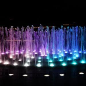 噴水の夜景