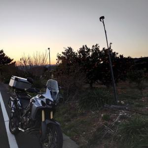 サンセット求めてバイクで