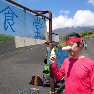 富士山御殿場口に天狗
