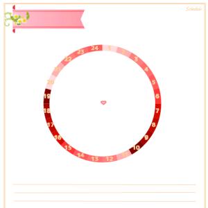 24時間スケジュール作成用、円グラフを作りました!VOl.3