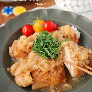 お酢でさっぱり柔らか鶏肉のみぞれ煮♪フライパンで簡単!