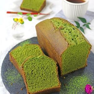 混ぜて焼くだけ♪ふんわり濃厚抹茶ミルクパウンドケーキ