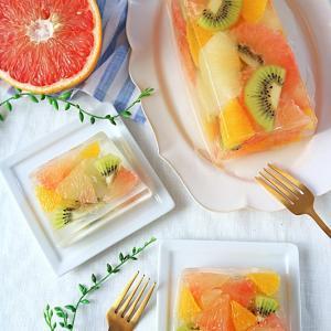 グレープフルーツとキウイのテリーヌ♪フロリダグレープフルーツレシピコンテスト