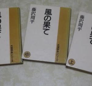 大型活字本で藤沢周平「風の果て」を読了