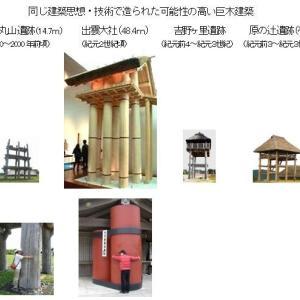 「縄文ノート50 縄文6本・8本巨木柱建築から上古出雲大社へ」の紹介