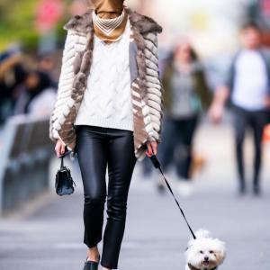 4/25 オリヴィア・パレルモ NYCを愛犬とお散歩中☆★☆