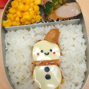 ★幼稚園弁当★雪だるまカレー