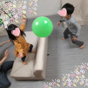 おうちで過ごそう☆風船バレーボール