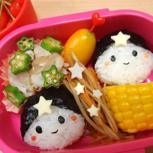 ★幼稚園弁当★織姫さまと彦星さま+パパ弁