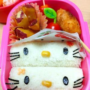 ★幼稚園弁当★キティちゃんサンド