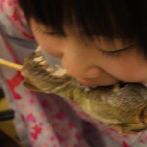 串ごとガブッ!といっちゃって~♪炭火で焼いた塩焼きを食べたい!