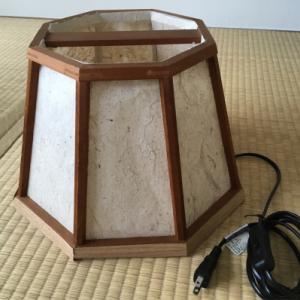 190818-1【物たち】 越前和紙+指物 の行灯