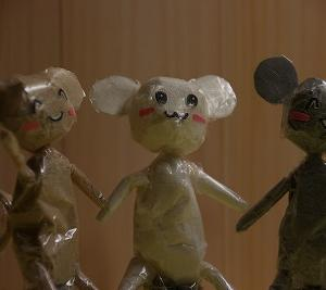 ティッシュとセロテープのネズミ♪