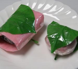 『ティッシュとセロテープの、桜餅♪』 ちりがみ写真館