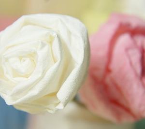 『トイレットペーパーのバラっぽいお花♪』 ちりがみ写真館♪